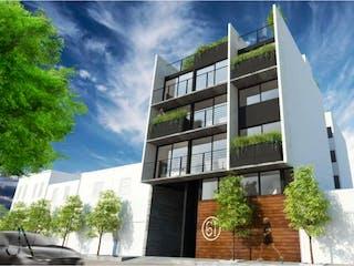 Un gran edificio con un reloj en él en Departamento en venta en Arenal, 52m²