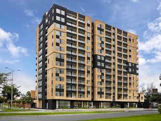 Un edificio alto sentado al lado de una calle en APARTAMENTO VENTA CIUDAD SALITRE AP-029