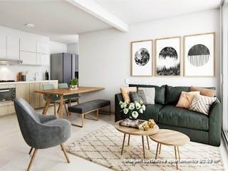 Una sala de estar llena de muebles y una gran ventana en Natal