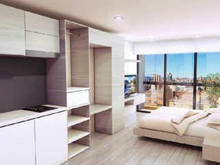 Un dormitorio con una cama y un gran ventanal en Macaé