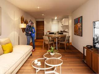 Una sala de estar llena de muebles y una televisión de pantalla plana en Centenario