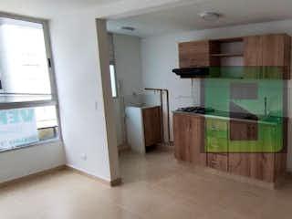Una cocina con una estufa de fregadero y nevera en Apartamento en venta en Norteamérica, 45m² con Piscina...