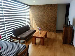 Una sala de estar llena de muebles y una chimenea en Venta departamento cerca del WTC en la Del Valle, Benito Juárez.
