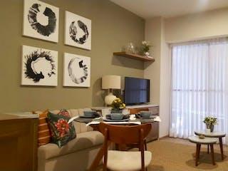 Una sala de estar llena de muebles y una ventana en Departamento en venta en Anáhuac de 2 alcobas