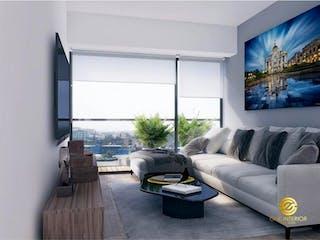 Una sala de estar llena de muebles y una gran ventana en Departamento en venta en Narvarte de 2 recámaras