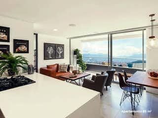 Una sala de estar llena de muebles y una gran ventana en Apartamento en venta en Zoológico de 1 hab. con Piscina...
