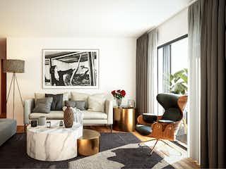 Una sala de estar llena de muebles y una ventana en Rio Danubio 81