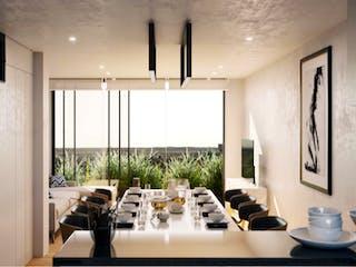 Una sala de estar llena de muebles y una ventana en Río Pánuco 141