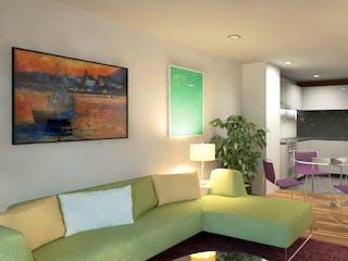 Una sala de estar llena de muebles y una gran ventana en Chapultepec 166
