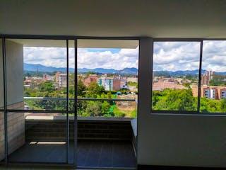Una ventana con una vista de la ciudad en Venta Apartamento En Rionegro