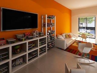 Una sala de estar llena de muebles y una televisión de pantalla plana en VENTA DEPARTAMENTOS CON ROOF GARDEN COMÚN SANTA MARÍA LA RIBERA APA_774 AG