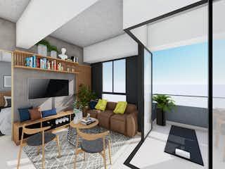 Una sala de estar llena de muebles y una televisión de pantalla plana en 270Q