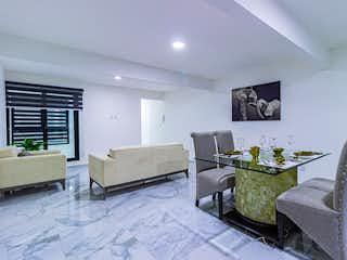 Una sala de estar llena de muebles y una televisión de pantalla plana en Torre Ajusco