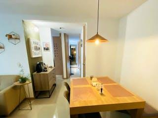 Un cuarto de baño con lavabo y un espejo en Apartamento en venta en El Salado, 61m² con Piscina...