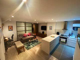Una gran cocina con un montón de espacio de contador en Apartaestudio en venta en Santa Barbara Occidental, 58mt con balcon