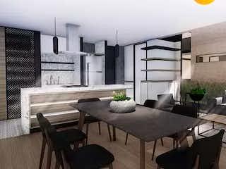 Una habitación con una mesa y una mesa en OM 161