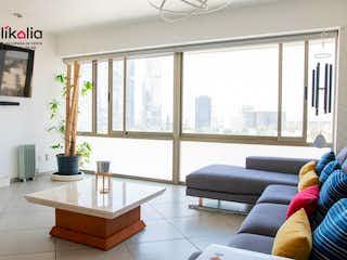 Una sala de estar llena de muebles y una ventana en Departamento en Laguna de Mayran Ciudad de México