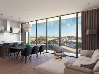 Una sala de estar llena de muebles y una gran ventana en  Yácatas 440
