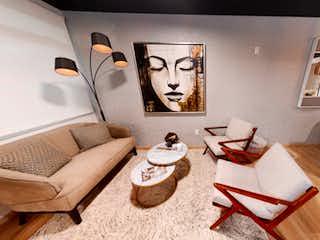 Una sala de estar llena de muebles y decoración en Camarones 257