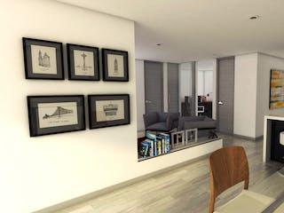 Una sala de estar llena de muebles y una televisión de pantalla plana en Pinares Reservado Torre Platino