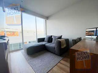 Una sala de estar llena de muebles y una televisión de pantalla plana en VENTA PENTHOUSE CUAJIMALPA cerca de CONTADERO