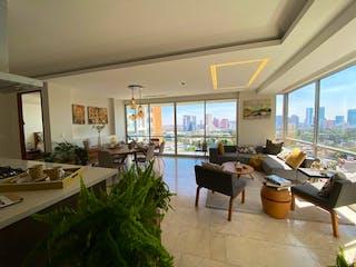 Una sala de estar llena de muebles y una gran ventana en Departamento Nuevo en Venta , Hares Polanco