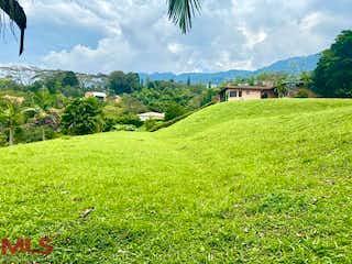 Una vista de un campo herboso con montañas en el fondo en Mirador del Escobero