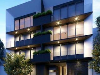 Un gran edificio con un montón de ventanas en PH Exterior, Roof Garden y Balcón.  Del Valle Centro, Providencia