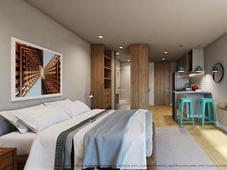 Un dormitorio con una cama y una televisión de pantalla plana en VERDHIA CHIA