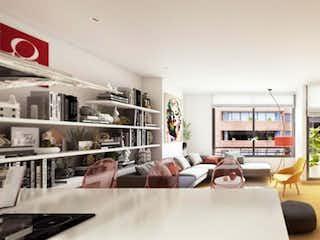 Una sala de estar llena de muebles y una mesa en Apartamento en venta en El Virrey con Gimnasio...
