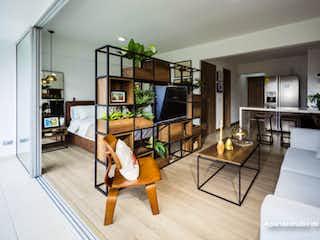 Una sala de estar llena de muebles y un suelo de madera en Ciudadela Monteazul