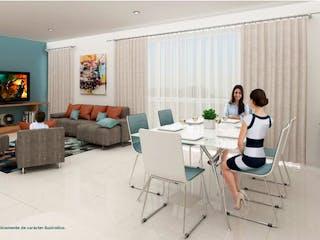 Una sala de estar llena de muebles y una televisión de pantalla plana en Frontera Polanco