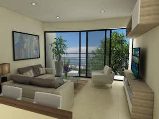 Una sala de estar llena de muebles y una gran ventana en Augusto Rodin 39