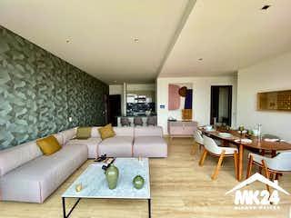 Una sala de estar llena de muebles y una mesa en ESTRENE DEPARTAMENTO EN VENTA EN INSURGENTES MIXCOAC