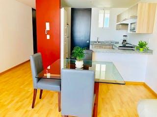 Una sala de estar llena de muebles y una televisión de pantalla plana en Departamento en venta en Miguel Hidalgo, 83m² con Bbq...