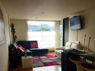 Una vista de una sala de estar y una sala de estar en Apartaestudio en venta Ubicado en Batan
