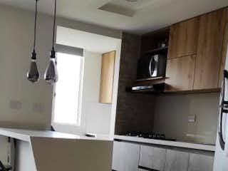 Una cocina con nevera y fregadero en Apartamento en venta en San Germán de 53m² con Gimnasio...