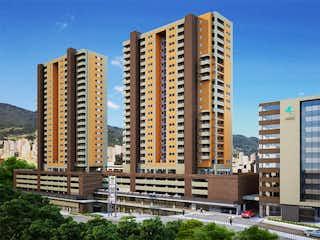Un gran edificio en una ciudad con edificios altos en Apartamento en Sabaneta, Bulevar de Alcazar cuenta con 2 habitaciones