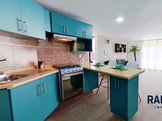 Una cocina llena de mucho espacio en la parte superior del mostrador en Departamentos nuevos a 15 minutos de Polanco