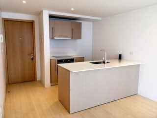 Una cocina con lavabo y microondas en VENTA APARTAMENTO MODERNO PARA ESTRENAR BACATA
