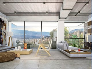 Una sala de estar llena de muebles y una ventana en Apartamento en venta en Alejandría 104m² con Piscina...