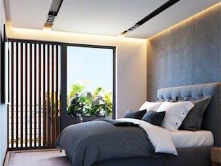 Una sala de estar llena de muebles y una ventana en Departamento en venta en Roma de 64m² con Jardín...