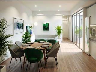 Una sala de estar llena de muebles y una mesa en Departamento en venta en Roma de 2 recámaras