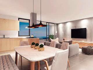 Una sala de estar llena de muebles y una televisión de pantalla plana en CESIN DE DERECHOS Apartamento para la venta en las Palmas, Medellín