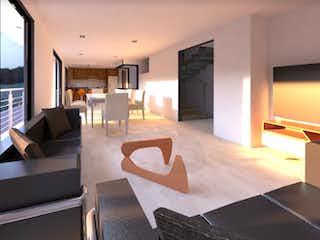 Una sala de estar llena de muebles y una televisión de pantalla plana en Aragón 79