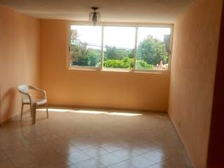 Una sala de estar con un sofá una silla y una mesa de café en Departamento en venta en Nueva Industrial Vallejo, 85m²