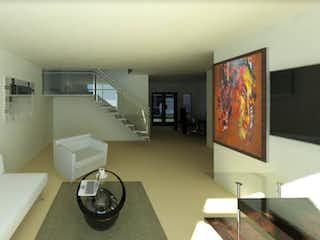 Una sala de estar llena de muebles y una televisión de pantalla plana en Bosques de Calacoaya - Casas