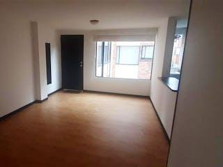 Una vista de un pasillo que conduce a una habitación en Apartamento en venta en Caobos Salazar 43m²