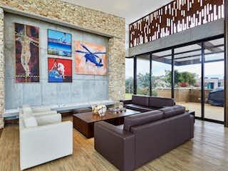 Una sala de estar llena de muebles y una ventana en Casa en Prado Largo, Las palmas con 3 habitaciones