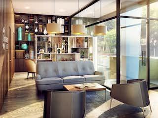Una sala de estar llena de muebles y una ventana en Entorno 127